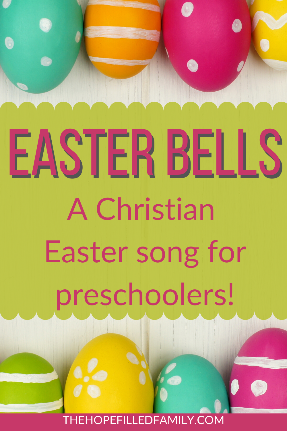 A Christian Easter song for preschoolers, Easter Bells.