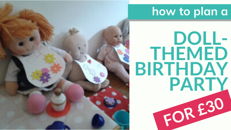 How to plan a dollies' tea party 2nd birthday party on a really small budget!