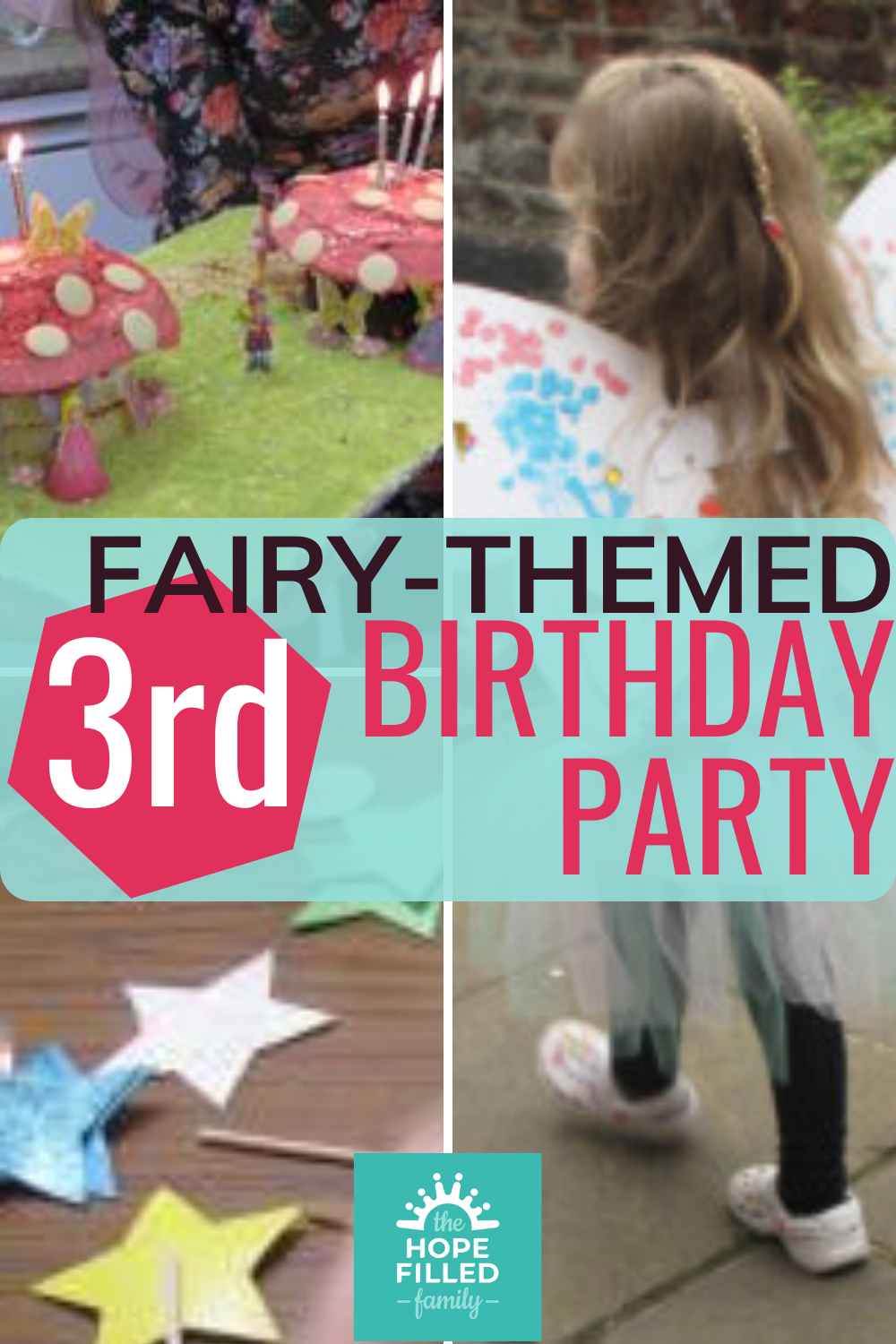 Fairy-themed 3rd birthday party for a 3 year old girl. Crafts, food, decorations, games and activities.