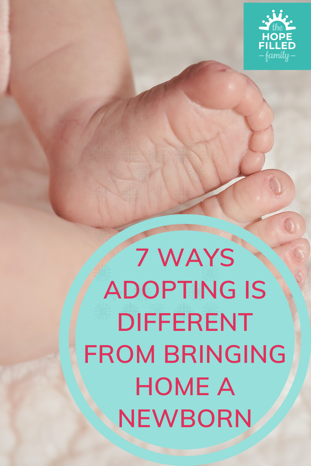 The difference between adopting and having a biological baby.