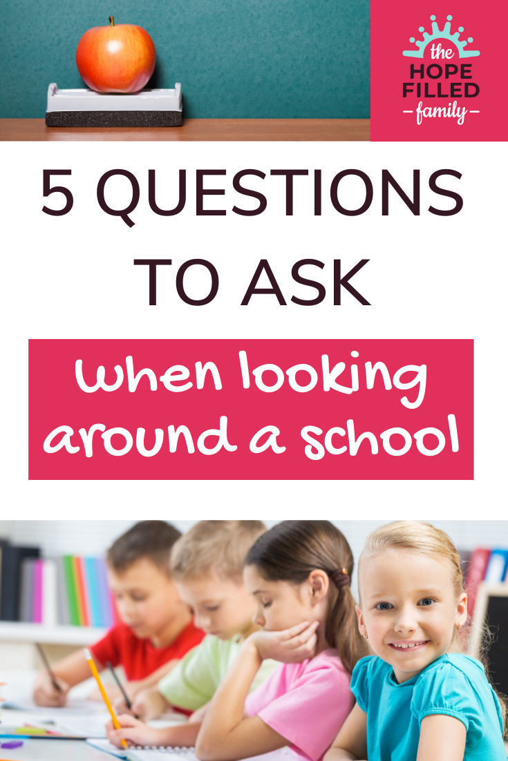 Wondering what to ask on a school visit? These Top 5 Questions for visiting a primary school will help you cut through the crap and get to the core of what it's about! With FREE PRINTABLE to help you choose.