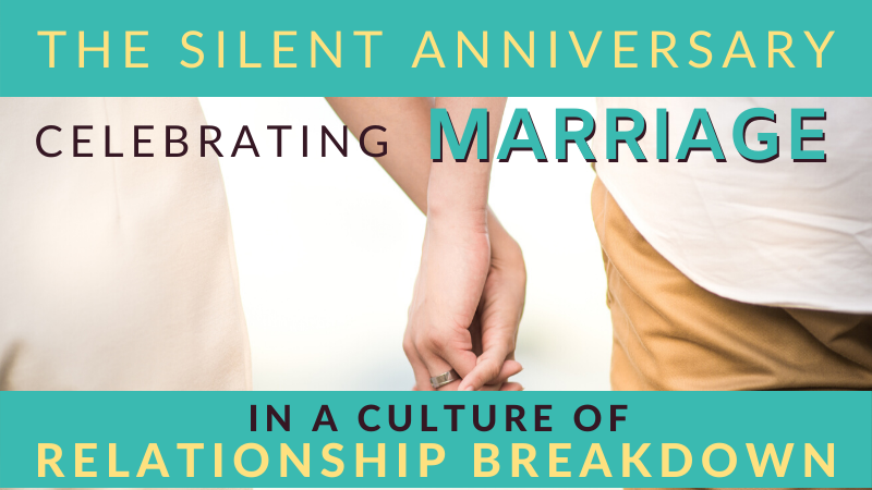 Is it right to celebrate a wedding anniversary when all around are breaking up?