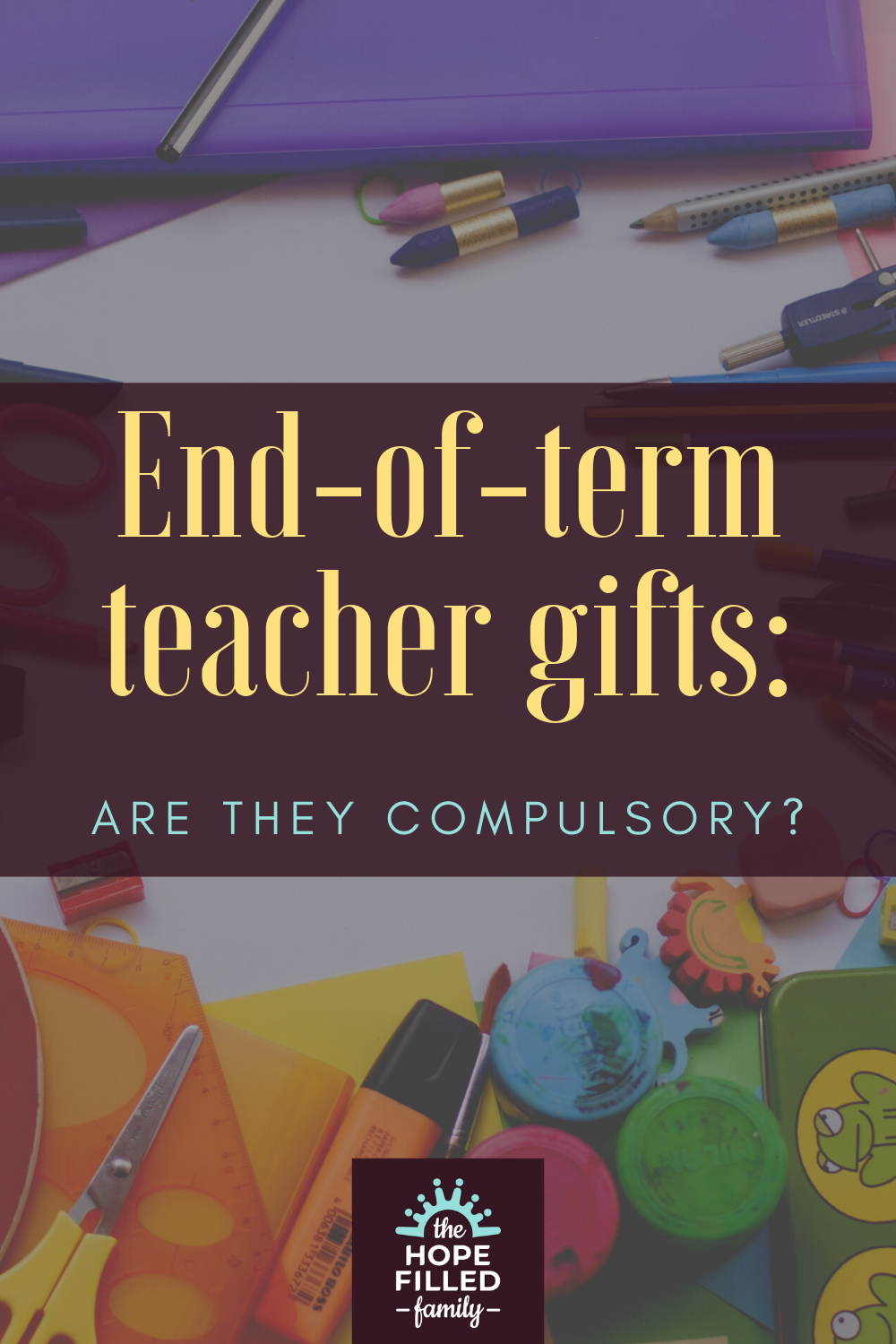 Do I have to buy my child's teachers an end-of-term gift?