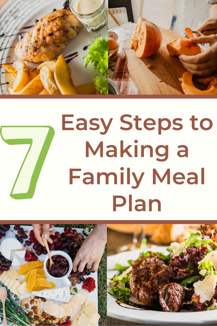 7 easy steps to making a family meal plan.