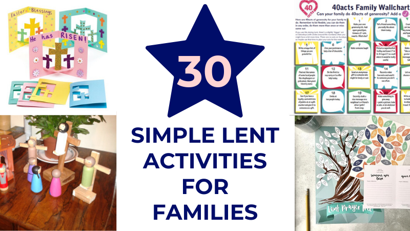 Creative Lent ideas for families.
