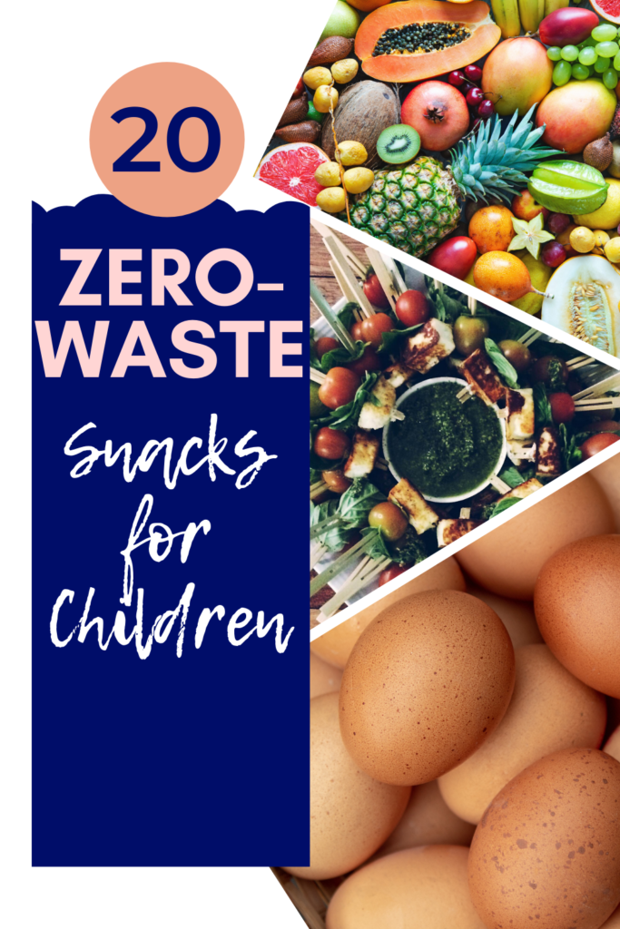 20 easy zero waste snacks for kids. Food which doesn't come in plastic packaging, but can be quickly prepared for zero waste snacks to go.