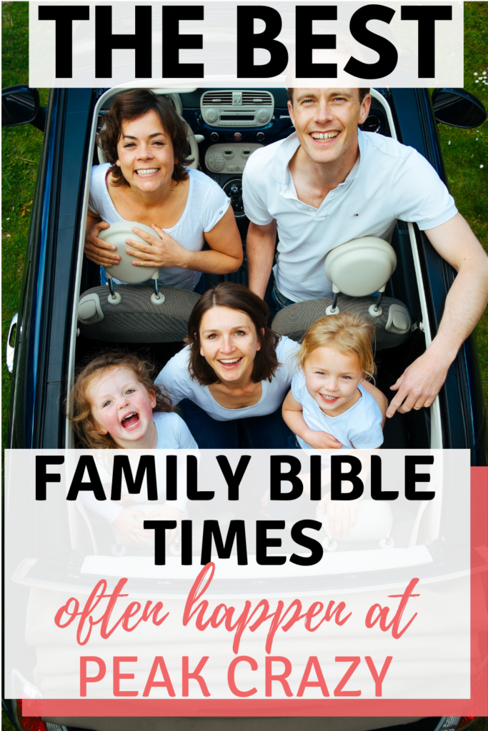 Family bible time ideas for when you're tearing your hair out! This article will encourage you if you're not sure whether any of your family devotionals are actually being absorbed.