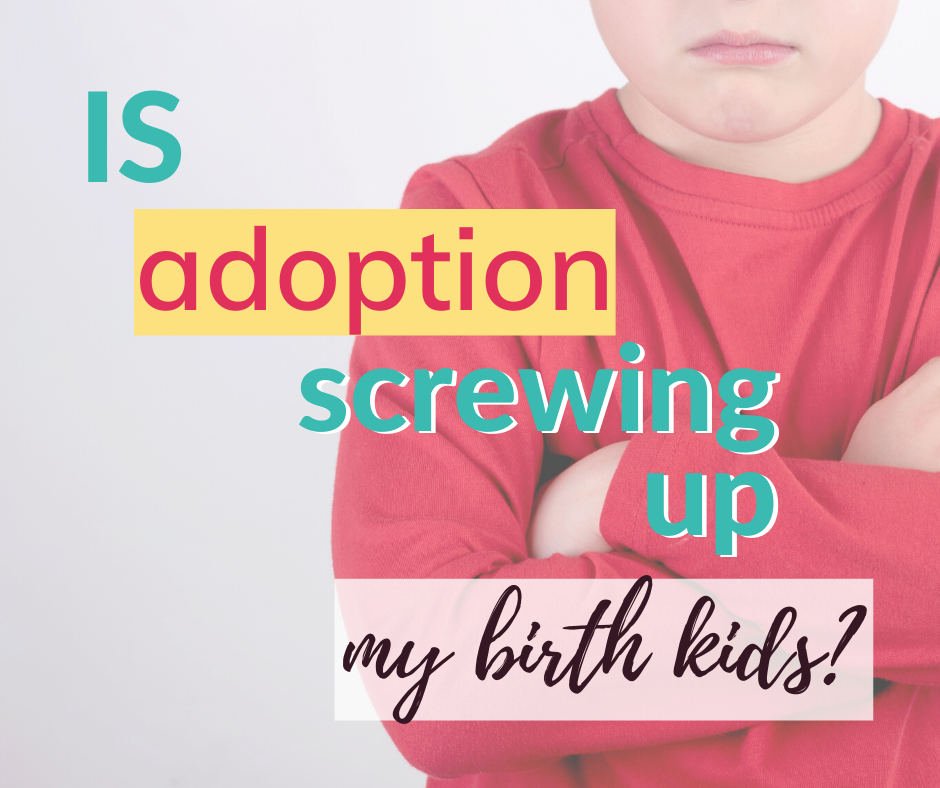 Mixing biological and adopted kids comes with challenges. Can birth and adopted kids be raised together? What is the impact of adopting when you have birth kids?