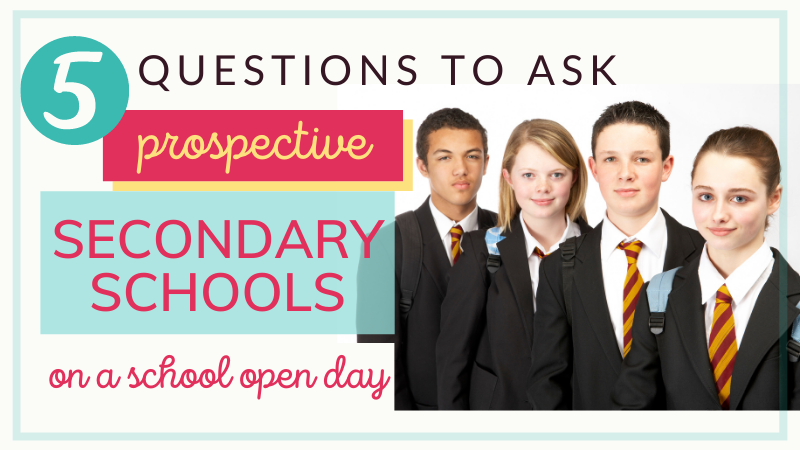What should I ask on my school open day? What are good questions to ask a high school? If you're after ideas for looking around secondary schools, how to approach open days and what to ask, here is some guidance.