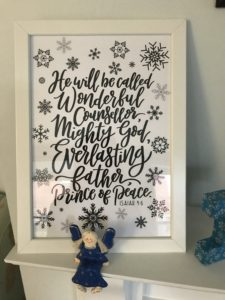 """""""He will be called Wonderful Counsellor..."""" Isaiah 9:6 - framed print - from How to Celebrate Advent at Home: 10 Advent Ideas for Families."""
