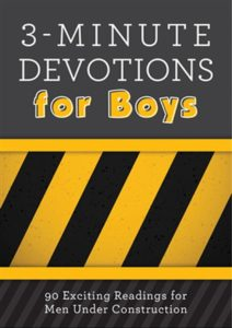 3-Minute Devotions for Boys - Barbour. Best children's and teenage Bible devotionals/devotions, recommendations from a UK Christian parenting blog