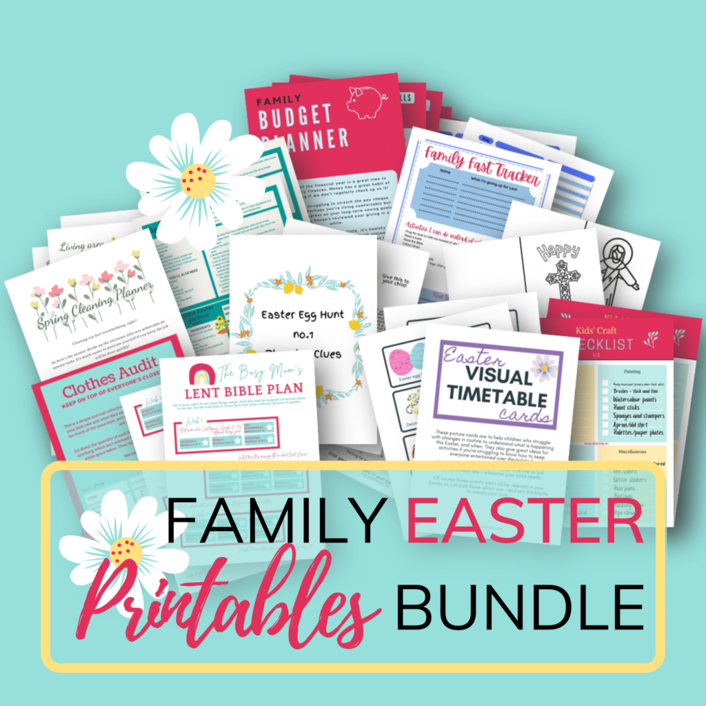 Family Lent printables bundle, Easter activities for kids, Easter activities for families, Lent activities for families, Lent for kids.