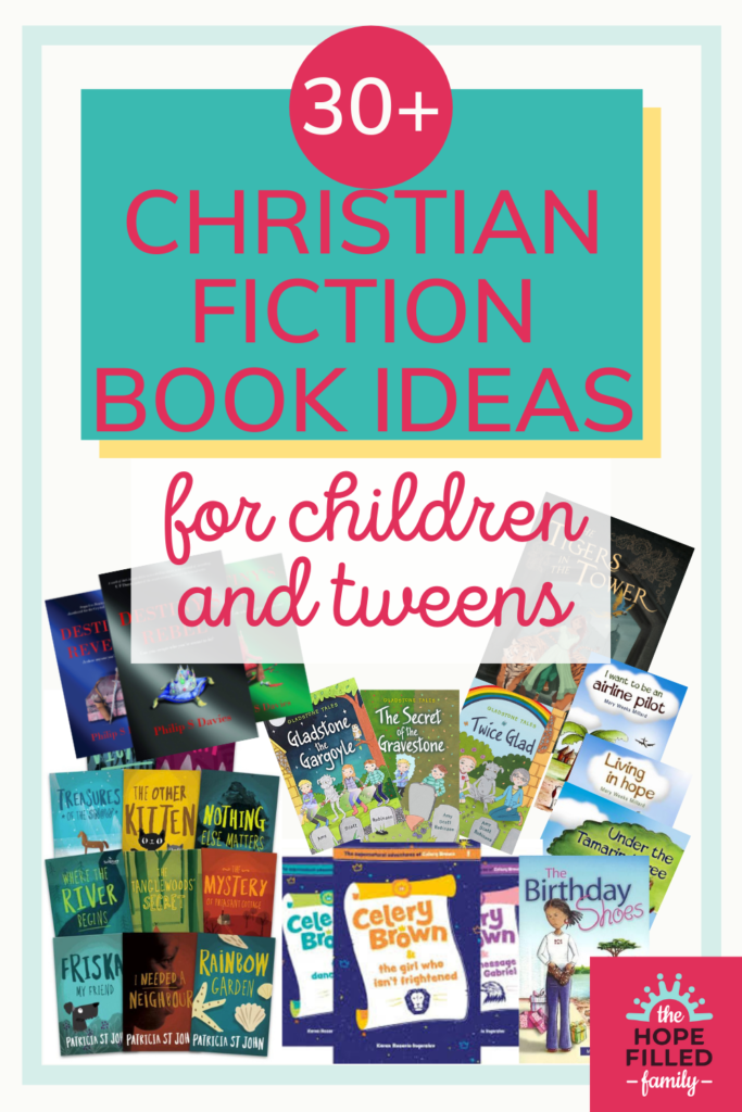 A guide to the best Christian fiction book ideas for children and tweens, with ideas for 5-7, 8-10 and 10-12 year olds. For children's books with Christian values, look no further!