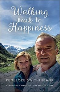 Best Christian fiction books for mums. Walking back to happiness. Penelope Swithinbank. Sarah Grace/Malcolm Down publishing.
